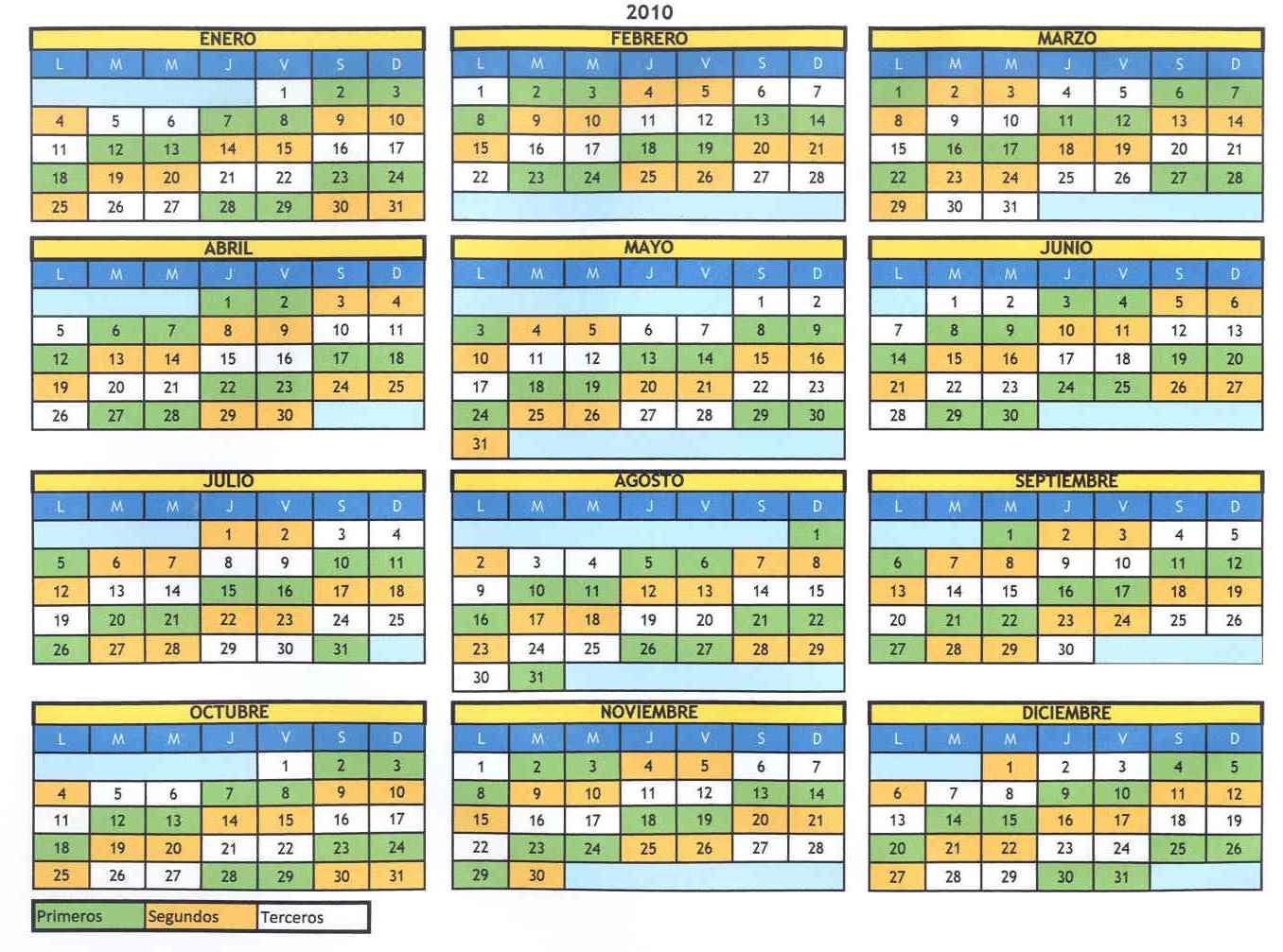calendar word 2015